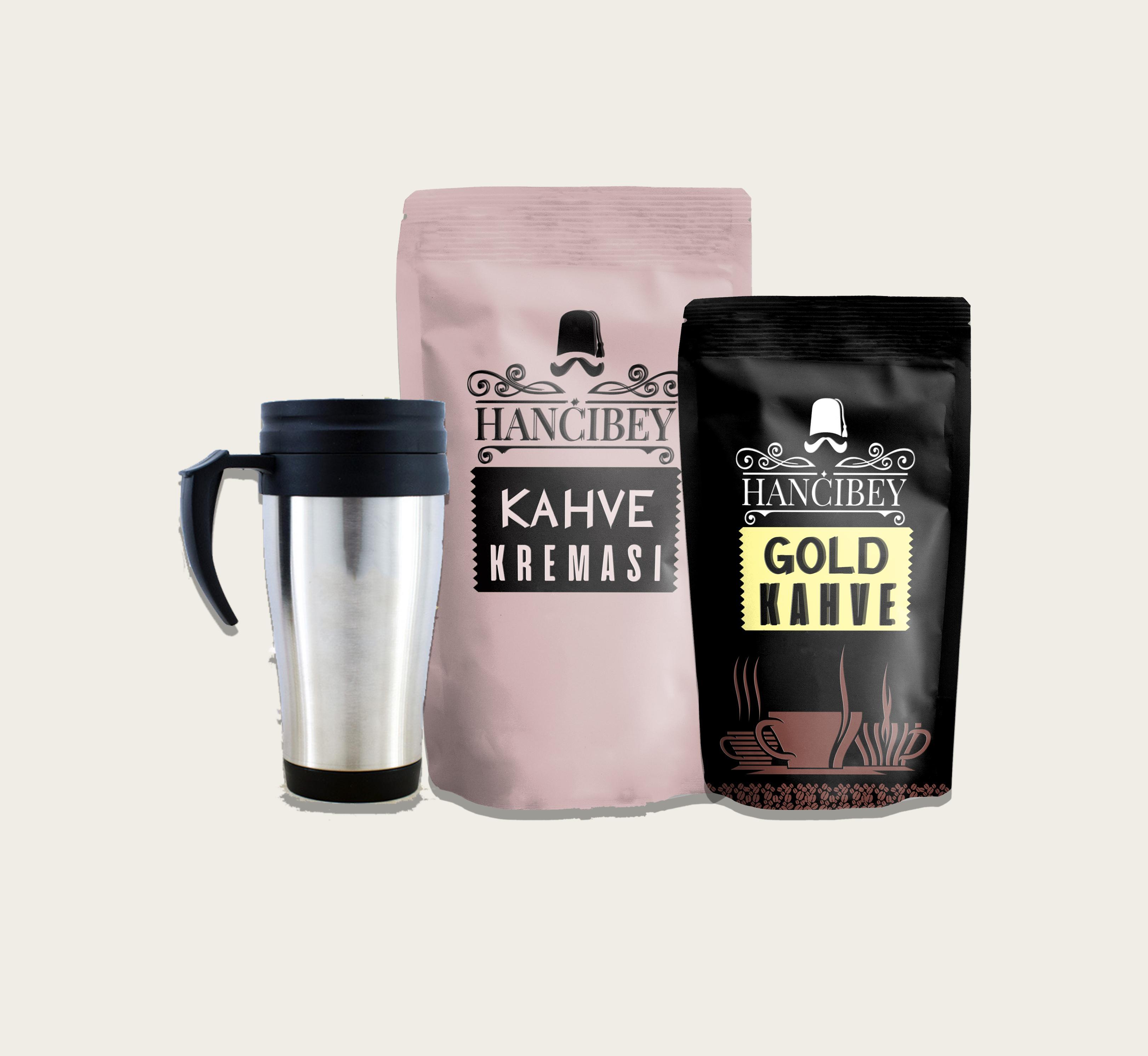Gold Kahve Seti (Kahve Krema, Gold Kahve, Kahve Termos)
